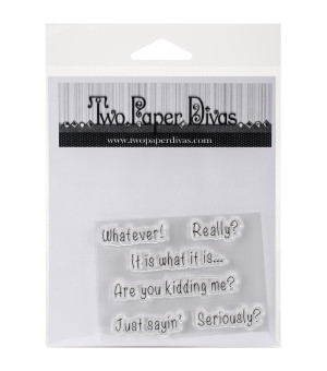 Paper Divas Sassy Sayings Clear StampsTwo Paper Divas Sassy Sayings