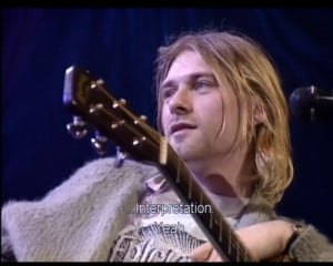 kurt cobain, love it !!!, nirvana