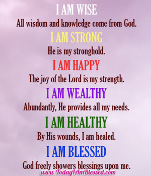 USE THIS AFFIRMATION AND FEEL IT...