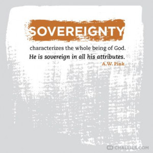 Sovereignty characterizes the whole being of God. He is sovereign in ...
