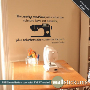 Wall Decal : Sewing Quote Vinyl Wall Art Craft Quote Sticker