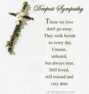 Sympathy for the loss of a loved one