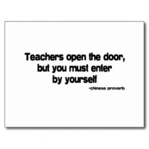 Teachers quote postcard