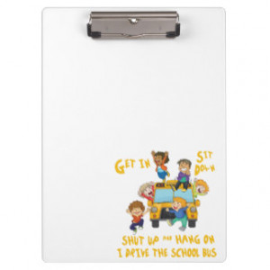 Funny School Bus Driver Back to School Clipboard