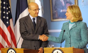 French Foreign Minister Alain Juppé and his U.S. counterpart Hillary ...