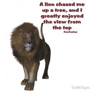 SmilinEyes › Portfolio › Lion Inspirational Confucius Quote