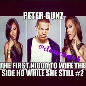 Love & hip hop: Peter Gunz ... Smh...