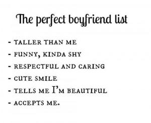 The perfect boyfriend list. | @LovaticRD