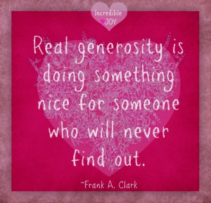 Generosity Quotes And Sayings