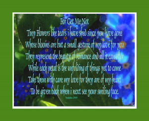 Forget Me Not Flower Poem