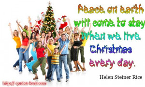 Topics: Christmas Picture Quotes , Peace Picture Quotes