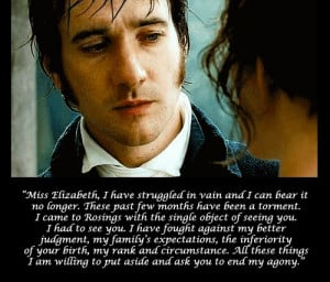 Mr. Darcy breaks. Pride and Prejudice (2005) | Those Fabulous Darc...