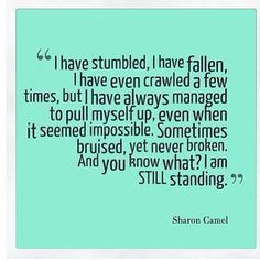 still standing quotes, thought inspir