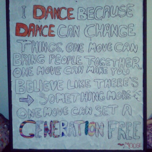 DIY step up quote, poster.