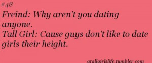 Being Tall Quotes For Girls