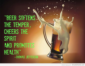 Thomas Jefferson quote on beer