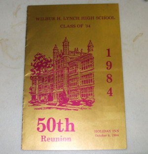 50th Class Reunion of Wilbur H. Lynch High School Program