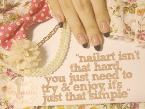 ... to merely make your nails pretty. It's an art that worth to try