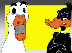 The voice of the Aflac duck has run afoul at the mouth....