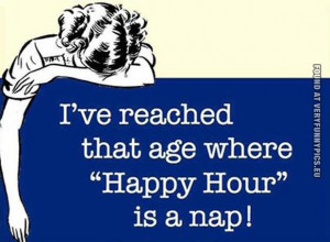 funny picture happy hour is a nap