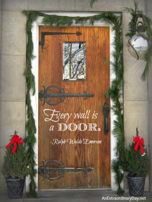 Every wall is a door.