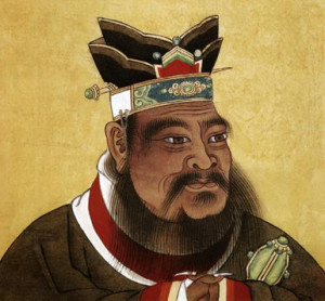 Confucius (c. 551-479 BC) chinese philosopher, chinese painting, 17th ...