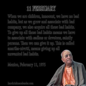 Srila Prabhupada Quotes For Month February 11