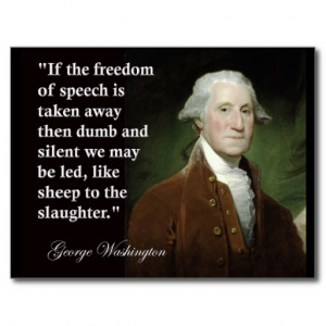 George Washington Freedom of Speech Quote Postcard