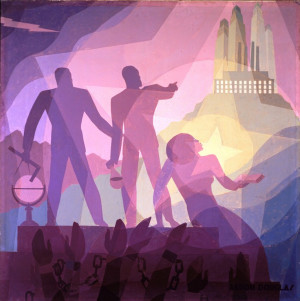 Painting like Aaron Douglas