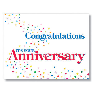 Congratulations Confetti Employee Anniversary Cards