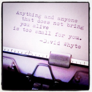 ... you alive is too small for you. // David Whyte | Flickr - Photo