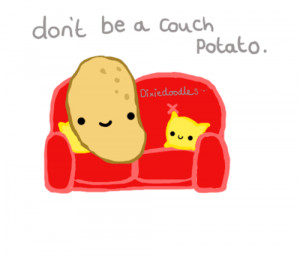 Don't be a couch potato!Love dixiedoodles xohttp://dixiedoodles ...