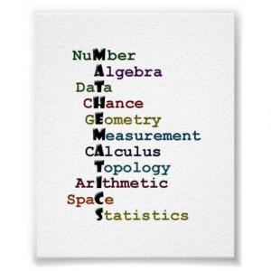 Maths - #Mathematics Poster: #acrostic covering areas of mathematics ...