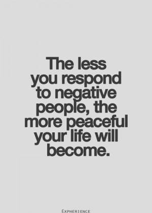... people the more peaceful your life will become | Inspirational Quotes