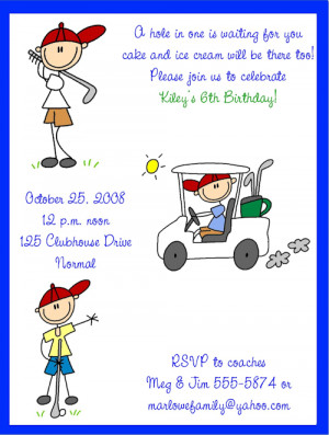 Shop our Store > Boy Golfers/Golf Birthday Party Invitations
