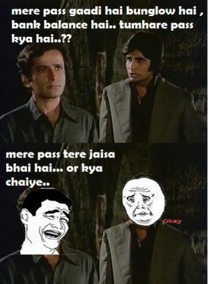 Bollywood Funny Dialogues: Amitabh, Shashi Kapoor from the Movie ...