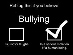 ... BE STOPPED, PEOPLE ARE ACTULLY KILLING THEMSELVES, FROM BEING BULLIED