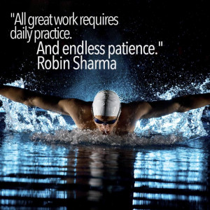 Quote on Great work , practice & patience by Robin Sharma