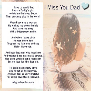 Missing You Quotes Death of Dad i Miss You Dad Quotes