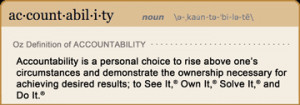 Our Definition of Accountability