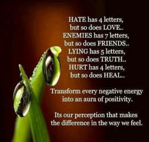 Focus on the positive!!!