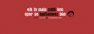 Funny Attitude Urdu and Hindi Facebook Covers