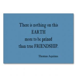 Vintage Blue Aquinas Friendship Quote / Quotes Business Card Templates
