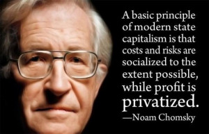 basic principle of modern state capitalism is that cost and risk are ...