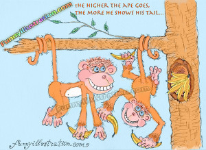 cute cartoon monkey pictures funny monkey silly monkeys drawing humor ...