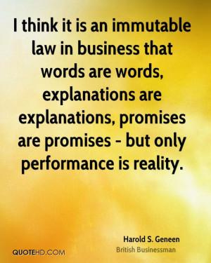 Harold S. Geneen Business Quotes | QuoteHD