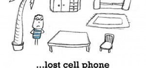 sadness is lost cell phone on silent