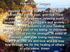 Before and After Surgery Prayer
