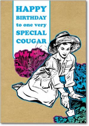 Cougar Unique Funny Birthday Card Nobleworks