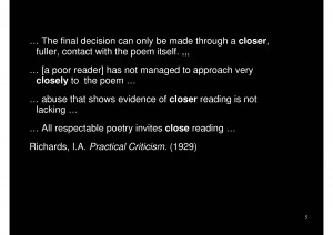 These are just some quotes from Practical Criticism , acquired through ...